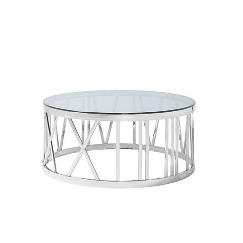 Silver Designer Ss Round Coffee Table Rs 6000 Unit Alisha Stainless Steel Id 21691972162