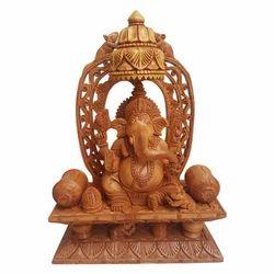 Wooden Mehrab Ganesha
