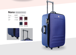Blue Polyester Trolley Suitcase, Number Of Wheel: 4