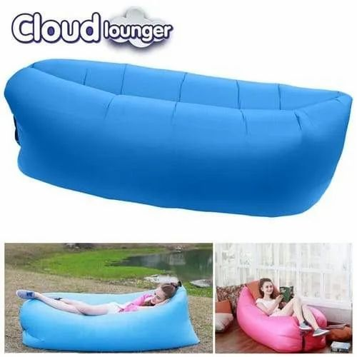 on sale 42016 c6000 Camping Lounger Sofa, Inflatable Lamzac Hangout Sleeping Bag, Beach Lazy  Air Bed