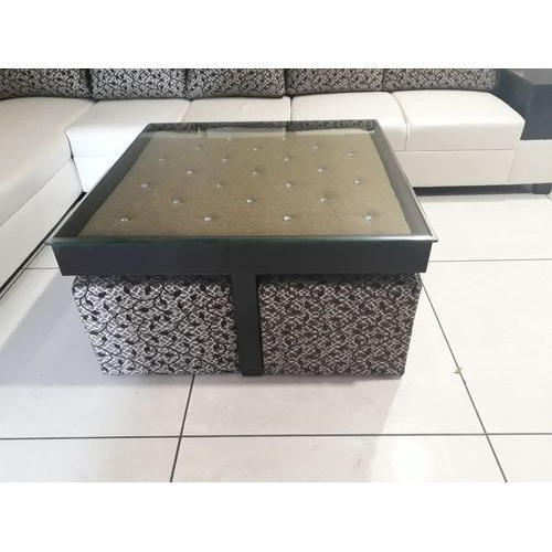 Sofa With Center Table: Wooden And Glass Square Sofa Center Table, Rs 19000 /piece