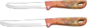 Round Marble Finish Handle Knives