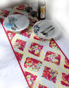 Cotton Canvas Hand Block Printed Floral Hoe Decor Quilted Decorative Boho Table Runner