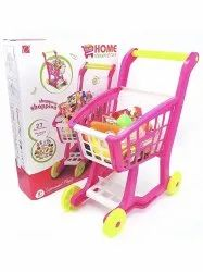 Unisex Multicolor Home Shopping Cart Pretend Role Play For Kids
