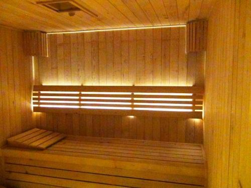 Brown Sauna Wooden Room