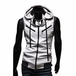 Men Sleeveless Zipper Jacket