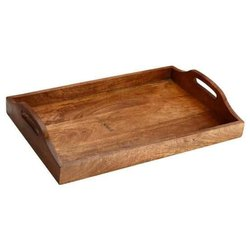 TWH Smooth Mango Wooden Tray, Size: 8x12 Inch