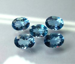 AAA Quality Top Grade Calibrated Aquamarine Gemstones