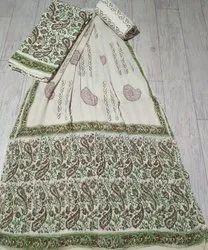 Regular Wear Female Cotton Unststich Dress Material, For Casual Wear
