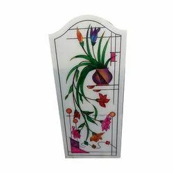 Tansprent White Designer Glass, Shape: Rectangle