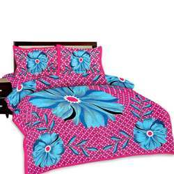 Floral Print Double Bed Sheet And Pillow Covers 372