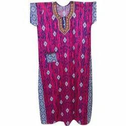 Nightwear Ladies Cotton Nightgown, Size: XXL