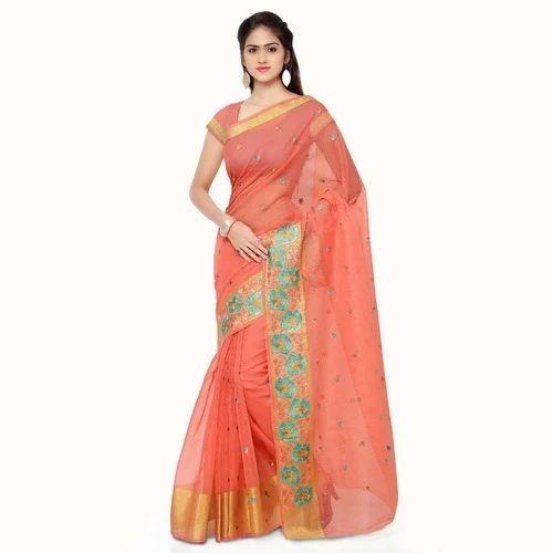 82198e62a2 Pure Cotton Silk Saree With Blouse Piece, Rs 995 /piece, Anuradha ...
