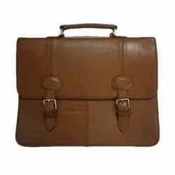棕褐色真皮办公包
