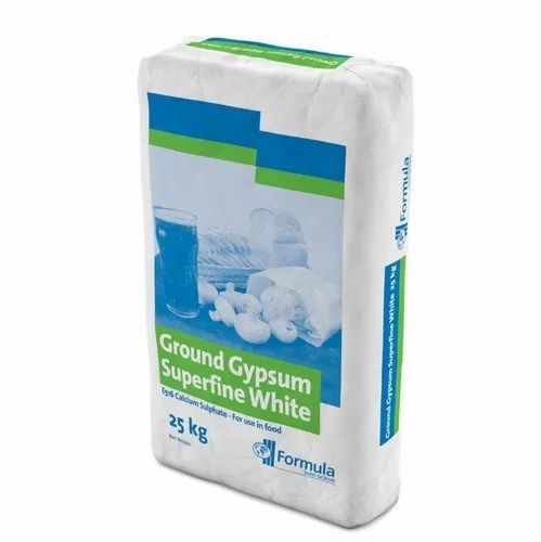White Pure Gypsum Powder, Packaging Size: 25 Kg, for Plaster