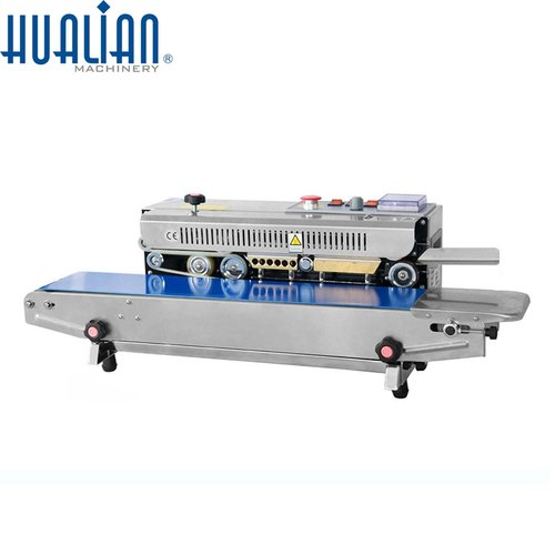 Hualian Semi-Automatic Horizontal Continuous Band Sealer, Capacity: Upto 3kg Pouch