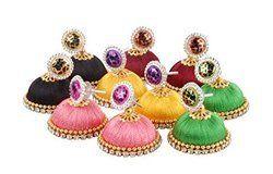 Silk Thread Earrings Jhumka