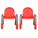 Red Plastic Kids Chair (VJ-0227)