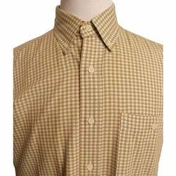 Cotton Checks Check Mens Shirt, Size: 38