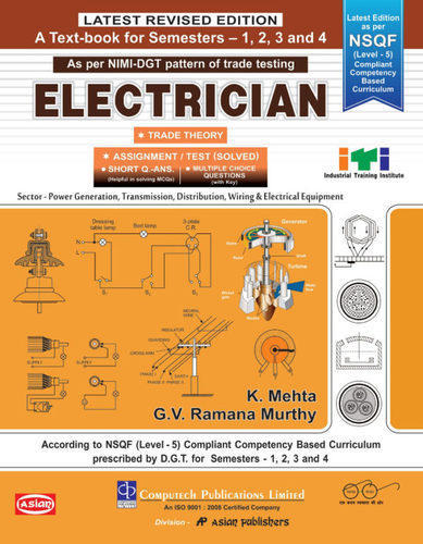 I T I  Books Semester System - SEM  1, 2, 3 & 4 ELECTRICIAN THEORY