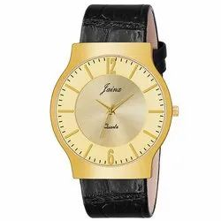 Jainx Golden Slim Dial Analog Watch - For Men JM352