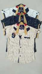 Boys Cotton Half Sleeves Printed Shirt