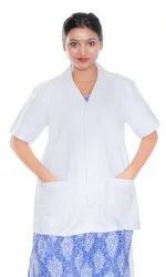 White HP30 Half Sleeves Doctor Lab Coat, For Hospital
