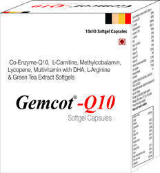Co-Enzyme-Q10 L-Carnitine Methylcobalamin Lycopene Multivitamin with DHA L-Arginine and Green Tea