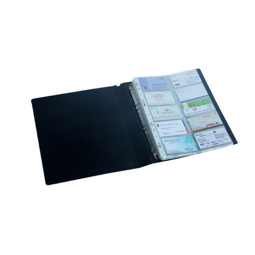 Plastic Visiting Card Album Size 16 X 8 Inches Rs 100 Piece Id