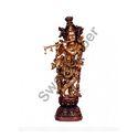 30 Inches Brass Standing Krishna Statue