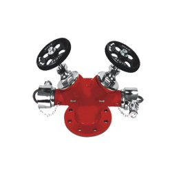 Stainless Steel Double Outlet Landing Valve