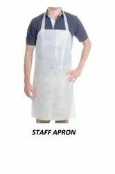 White Plain Disposable Salon Aprons / Staff Apron, Size: Large