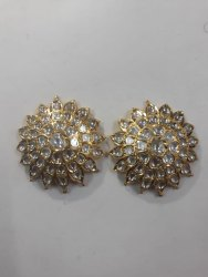 22 Carat Gold Natural Uncut Diamond Polki Jadau Tops
