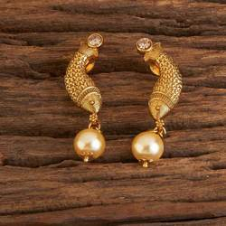 Antique Delicate Earrings With Gold Plating 15647