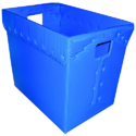 Blue Rectangular Pp Corrugated Crate And Boxes, Capacity: Upto 10 Kg