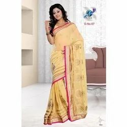 Fancy Embroidered Chiffon Sarees