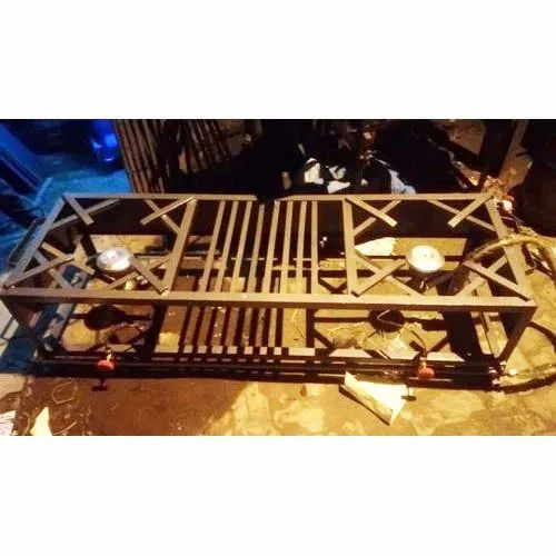 Cast Iron Commercial Double Gas Burner Stove, For Used In Hotels And Restaurant