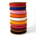 Multicolor Thin Silk Thread Summer Wear Bangles