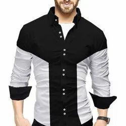 Collar Neck Full Sleeve Mens Casual Shirt