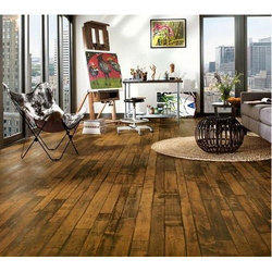 Brown Solid Wooden Flooring