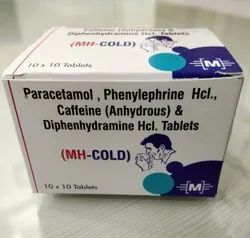 Nimesulide 100 mg PCM 325 mg  Caffeine 25 mg Phenyleplire HCL 10mg Tablets