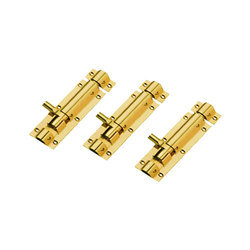 Brass Gold Finish Tower Bolts, Size: 4 inch