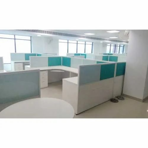White Rectangular Computer Workstation, For Corporate Office