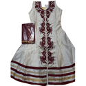 Cotton Embroidered Traditional Anarkali Suit