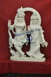 Makrana Marble Radha Krishna Statue
