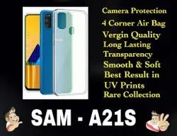 Silicon Samsung A21S Transparent Mobile Back Cover