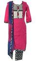 Lavanya Texon Suit- Top Glace Cotton Bottom Cotton Printed Dupatta