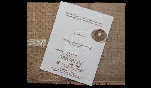 Seed Paper Invitation At Rs 150 Piece Anniversary Invitation