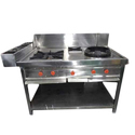 Stainless Steel Two Burner Range
