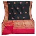 Wedding Wear Embroidered Ladies Fancy Handloom Banarasi Silk Sarees, 6.3 M (with Blouse Piece)
